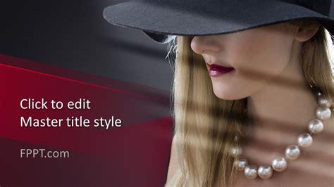 fashion model woman powerpoint template