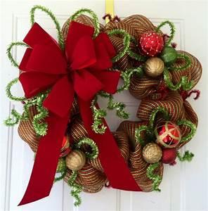 Weihnachtskranz Selber Machen : weihnachtskranz basteln 32 inspirierende bastelideen f r weihnachten ~ Markanthonyermac.com Haus und Dekorationen