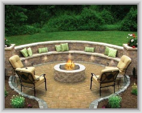 outdoor patio ideas with firepit for the home