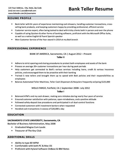 Bank Teller Resume by Bank Teller Resume Template Tipsense Me