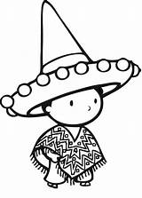 Sombrero Drawing Coloring Hat Pages Drawings Getdrawings sketch template