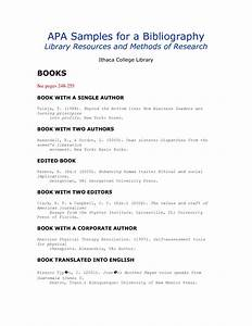apa format citation With free apa bibliography template