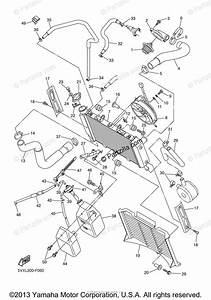 Yamaha Motorcycle 2007 Oem Parts Diagram For Radiator Hose