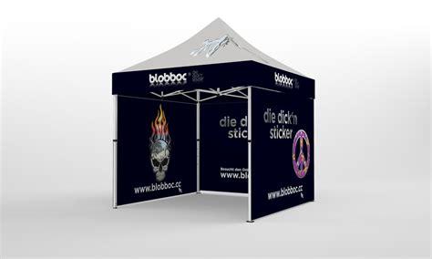 Faltpavillon 3x6 zeigt riesige Werbung Jetzt mit € 655