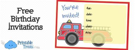 printable fire truck invitations printable treatscom