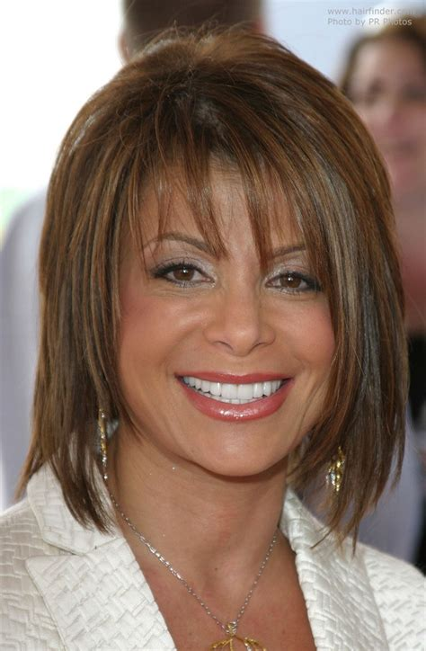 Medium Hairstyles by Paula Abdul S Medium Length Hairstyle With Texturized Layers