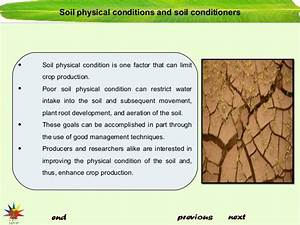 Soil conditioners and amendments