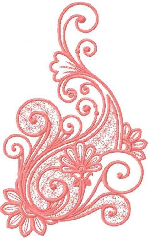 Lade Applique Design by Pink Decoration 5 Embroidery Design Favorite