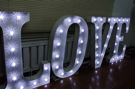 secondhand prop shop illuminated letters large ft