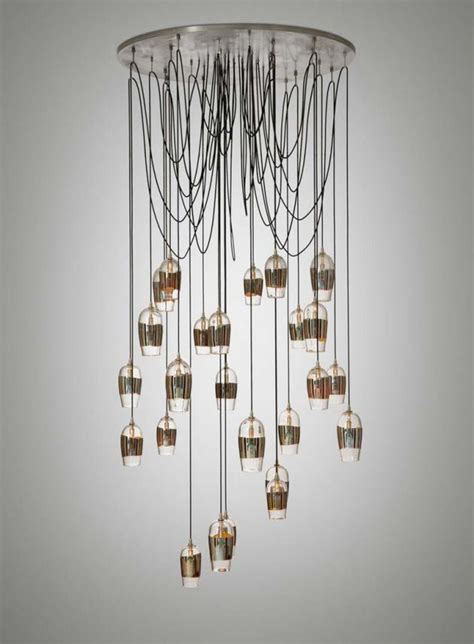 contemporary lighting design mirrored pendant chandelier
