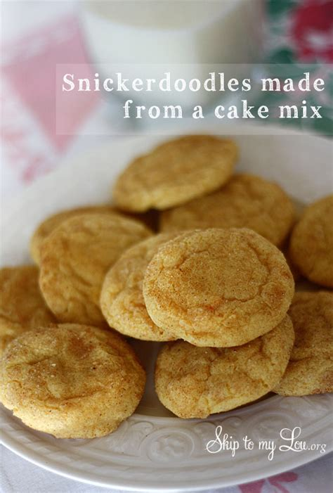 These cake mix cookies are such an easy and delicious recipe to make with only 3 ingredients! Easy Snickerdoodle Recipe | Skip To My Lou