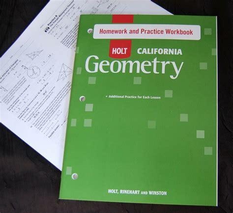 holt geometry student homework practice workbook