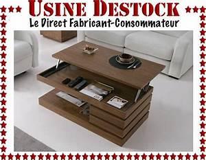 Table Basse De Salon Relevable Bois Design Moderne