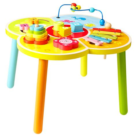 baby activity table wooden young ones wooden activity table baby vance pinterest