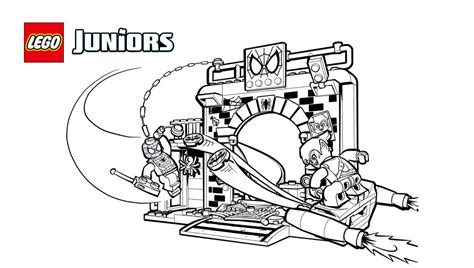 Lego® Juniors Spider-man™ Hideout Coloring Page