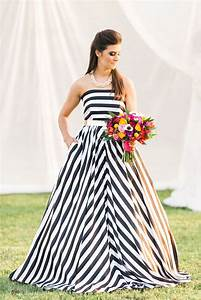 modern wedding style kate spade o how to diy wedding flowers With black and white striped wedding dress