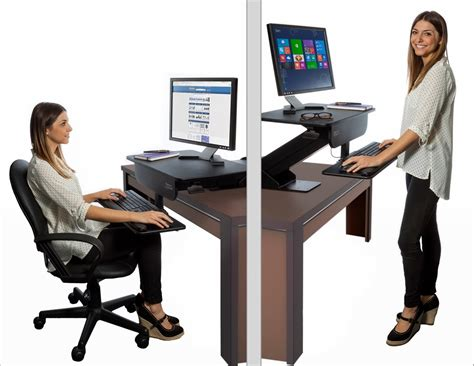 sit and stand desk adjustable height gas spring easy lift standing desk sit