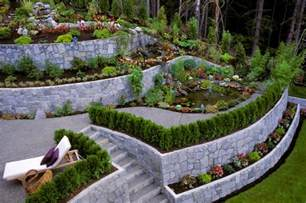 terraced garden designs 27 backyard retaining wall ideas and terraced gardens