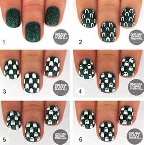 Easy step by halloween nail art tutorials for