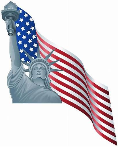 Liberty Flag Statue American Clip Clipart America