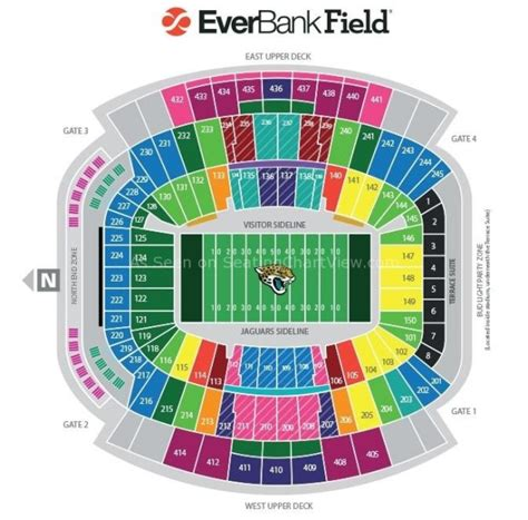 jacksonville stadium seating chart georgia florida