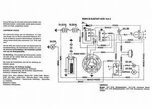 Schaltplan Vespa V50 Spezial