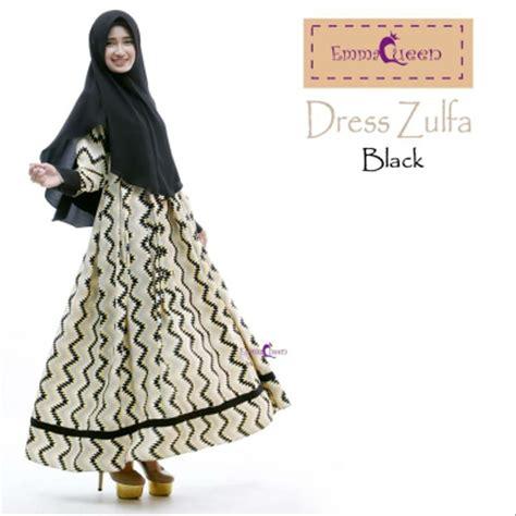 Syari Zulfa Hitam jual zulfa dress by emmaqueen gamis baju muslim