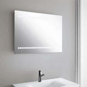 Miroir Lumineux Led : miroir lumineux led salle de bain horizontal 80x60 cm ~ Edinachiropracticcenter.com Idées de Décoration