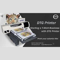 How To Print Tshirt Easy Using Apex Digital Garment Printer Dtg6090 Youtube