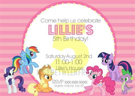 pony invitations  template  jonie