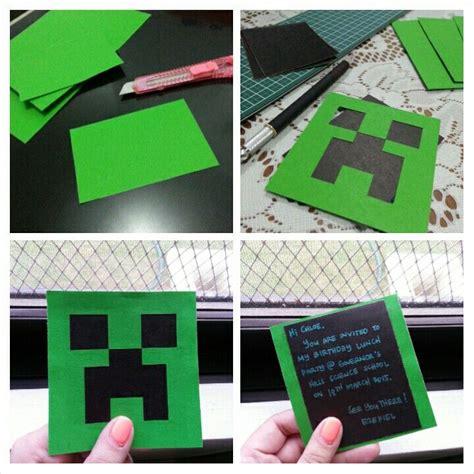 diy creeper party invitation black  green cardstock