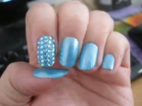 Blue gem nail art by vixen on deviantart