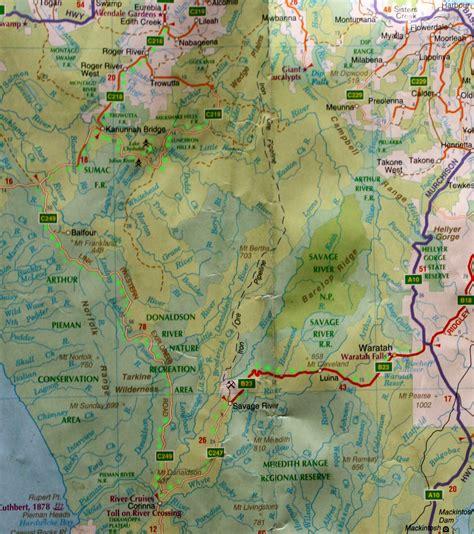 map of map of tarkine wilderness tasmania
