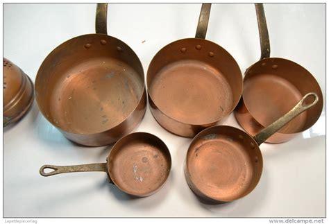 ancienne s 233 rie de casseroles en cuivre passoire delce net
