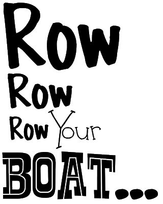 Row Your Boat Words by Word World Row Row Row Your Boat