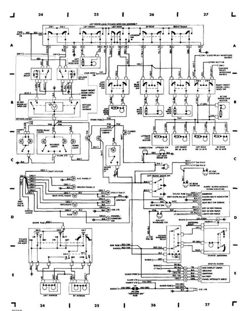 wiring diagram for 1991 jeep wiring diagram for