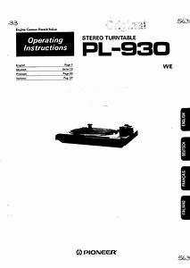 Pioneer Pl-930