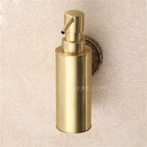 size of towel vintage polished brass wall mount soap dispensers