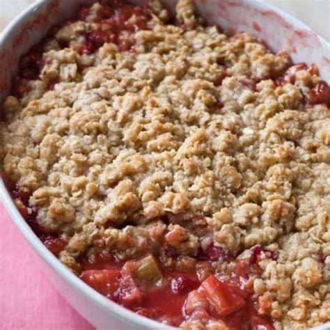 rhubarb crisp strawberry rhubarb crisp recipes barefoot contessa