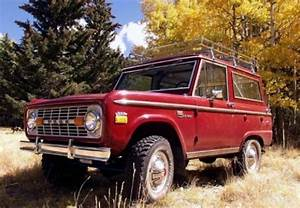 Love this red bronco with the roof rack with the fall background.   My Collection of Early ...