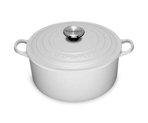 le creuset cast iron  dutch oven  quart white cutlery