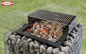 Barbecue En Dur : barbecue gabion avec galets ~ Melissatoandfro.com Idées de Décoration