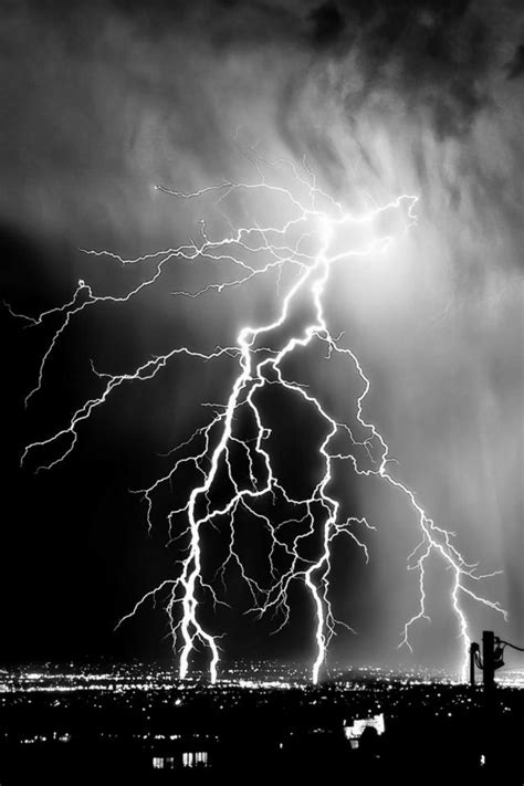 640 lightning monochrome storm l wallpapers for phone