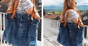 Nähen Aus Alten Jeans : tasche aus einer alten jeans mit ledergurten upcycling cheznu tv ~ Frokenaadalensverden.com Haus und Dekorationen