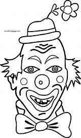 Coloring Funny Clown Wecoloringpage sketch template