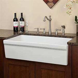 36quot cais single bowl italian fireclay farmhouse sink With 36 white farm sink