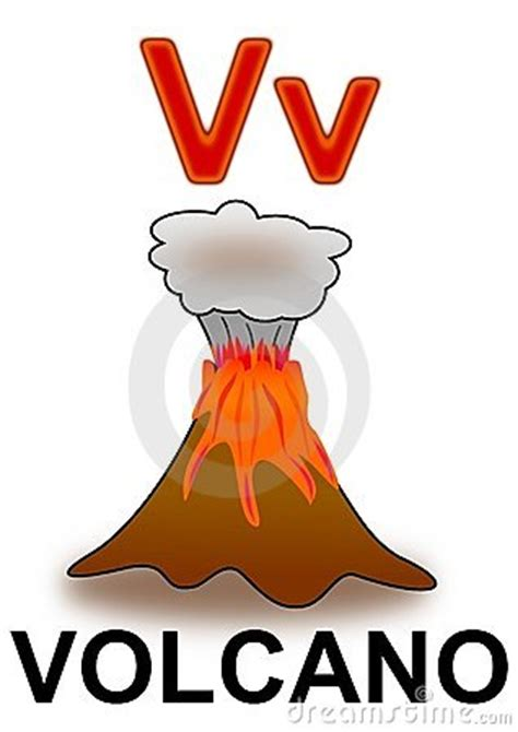 letter  volcano stock image image