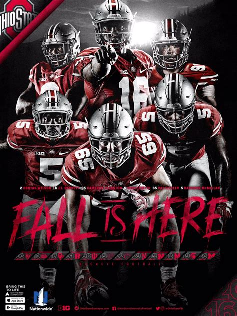 Fall Is Here: Ohio State's 2016 Official Schedule Poster ...