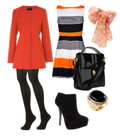 Orange black and white outfit how to wear | How To Be Trendy