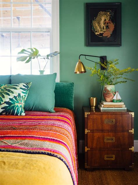 vivid color palettes   bedroom